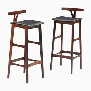 Danish Rosewood Stools from Dyrlund, 1960s, Set of 2