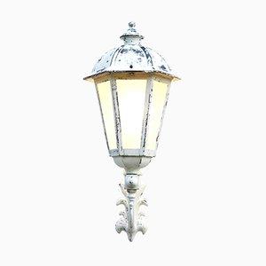 Lanterne Murale d'Extérieur Vintage en Verre et Métal, France