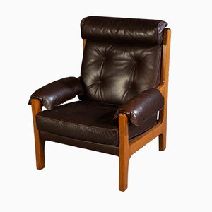 Vintage Leather Lounge Chair, 1970s