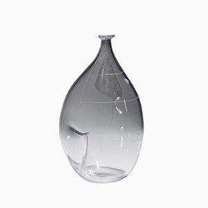Vaso in vetro di Ingeborg Lundin per Orrefors, anni '50
