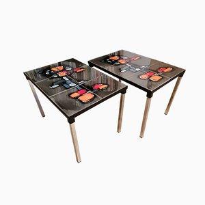 Tavolini in ceramica di Adri, anni '60, set di 2
