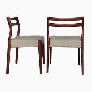 Skandinavische Vintage Stühle aus Teak, 1960er, 4er Set