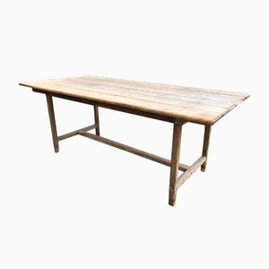 Industrial Oak and Fir Farmhouse Table, 1920s