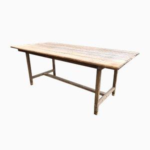 Tavolo industriale in legno di quercia e abete, anni '20