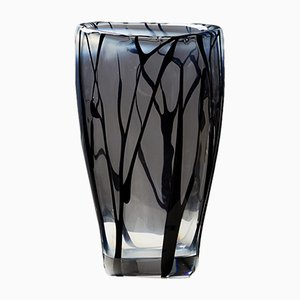 Mid-Century Glass Vase by Vicke Lindstrand for Kosta Boda, 1954