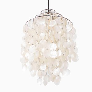 Modernist Metal and Shell Chandelier by Verner Panton, 1970s