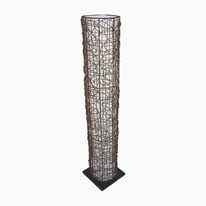 Scandinavian Modern Fabric and Metal Floor Lamp from Cottex, 1970s