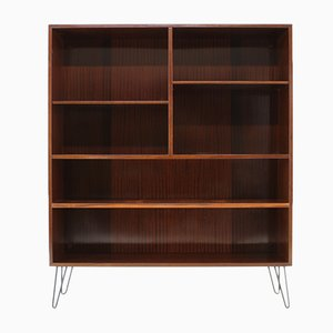 Danish Iron and Palisander Bookcase from Omann Jun, 1960s