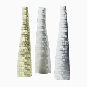 Stoneware Reptil Vases by Stig Lindberg for Gustavsberg, 1950s, Set of 3