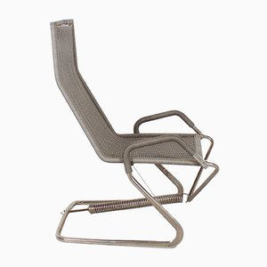 Italian Leather Anfibio Chair Bed By Alessandro Becchi For