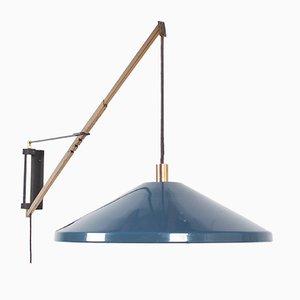 Lampada da parete regolabile in ottone e metallo di Stilnovo, Italia, anni '50