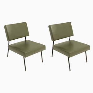 French Lounge Chairs by Pierre Guariche for Airborne, 1950s, Set of 2