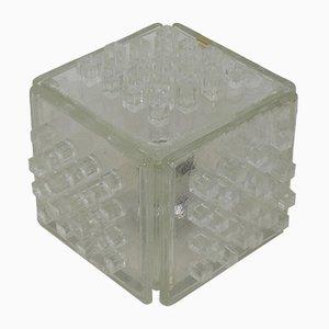 Italienische Mid-Century Apis Tischlampe aus Kristallglas von Poliarte, 1960er