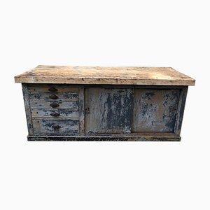 Vintage Industrial Wooden Cabinet, 1920s