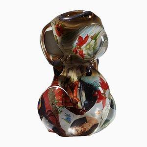 Schwedische Fabula Vase aus Glas von Per B. Sundberg für Orrefors, 1998