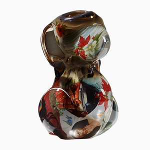 Swedish Glass Fabula Vase by Per B. Sundberg for Orrefors, 1998