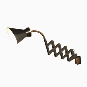 Lámpara de acordeón italiana de Stilnovo, años 50