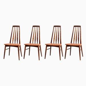 Chaises de Salle à Manger Eva par Niels Koefoed pour Koefoed Hornslet, 1960s, Set de 4