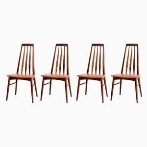 Eva Dining Chairs by Niels Koefoed for Koefoed Hornslet, 1960s, Set of 4