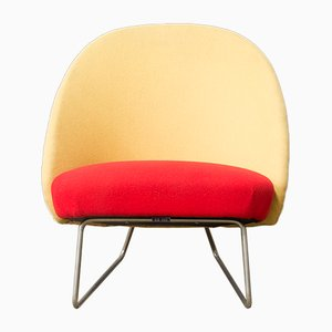 Mid-Century Two Color Model 115 Armchair by Theo Ruth for Artifort, 1959