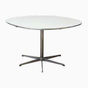 Mesa de comedor pedestal redonda de Arne Jacobsen & Piet Hein Eek para Fritz Hansen, 1968