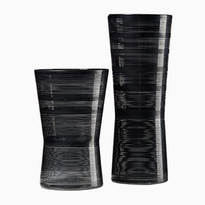 Swedish Glass Zwizz Vases by Ingegerd Råman for Orrefors, 2000s, Set of 2