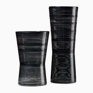 Vases Zwizz en Verre par Ingegerd Råman pour Orrefors, Suède, 2000s, Set de 2