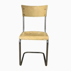German Light Yellow Wooden S43 Dining Chair by Mart Stam for Thonet, 1930s