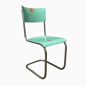 S43 Turquoise Wood Chair by Mart Stam for Thonet, 1930s