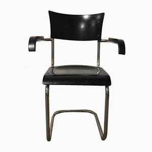 S43F Black Wood Chair by Mart Stam for Thonet, 1930s