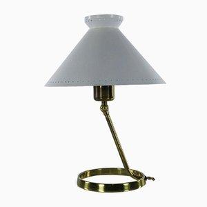 Lampada da tavolo Mid-Century in ottone e metallo, Italia, anni '50