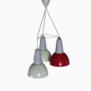 Deutsche Mid-Century Deckenlampe, 1950er
