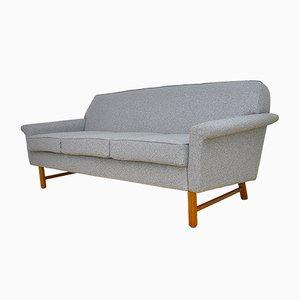 Mid-Century Sofa mit Beinen aus Teak, 1950er