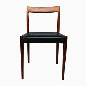 Mid-Century Leather & Palisander Dining Chair from Lübke, 1960s