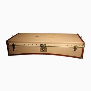 Antique French Brass and Leather Trunk from Moynat, 1902