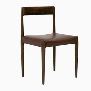 Moderne skandinavische Esszimmerstühle aus Kunstleder & Holz, 1960er, 4er Set