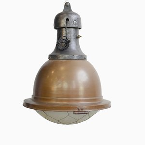 Large Copper Church Light, 1910s
