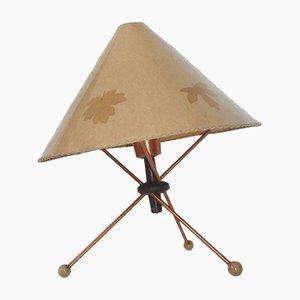 Lámpara de mesa modelo 959/1 de metal de Drukov, años 60