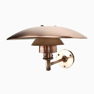Dänische PH 4.5/3 Wandlampe aus Kupfer von Poul Henningsen für Louis Poulsen, 1950er