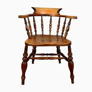 Antique Elm Desk Chair