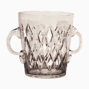 Mid-Century Champagnerkühler aus Kristallglas