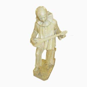 Große antike Skulptur aus Alabaster von A. Michelotti