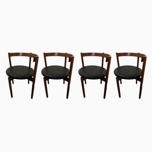 Danish Dining Chairs by Hugo Frandsen for Borge Sondergaard, 1960s, Set of 4