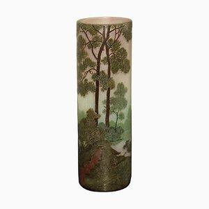 Antike Jugendstil Vase von Legras