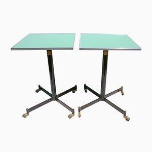 Tavolini ad altezza regolabile, Italia, anni '50, set di 2