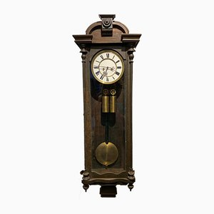 Antique German Wooden Clock