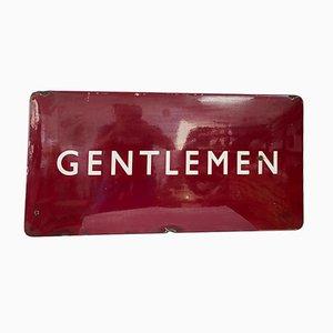 Cartel Gentleman Mid-Century de acero esmaltado y acero, años 40