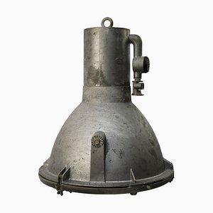 Plafonnier Industriel en Fonte d'Aluminium et en Verre, Allemagne, 1950s