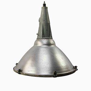 Lampada industriale in alluminio e ghisa grigia, anni '50