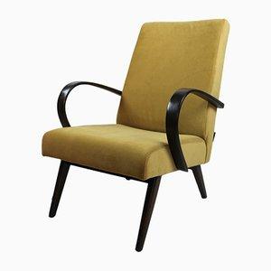 Vintage Velvet Armchair from Jitona, 1970s